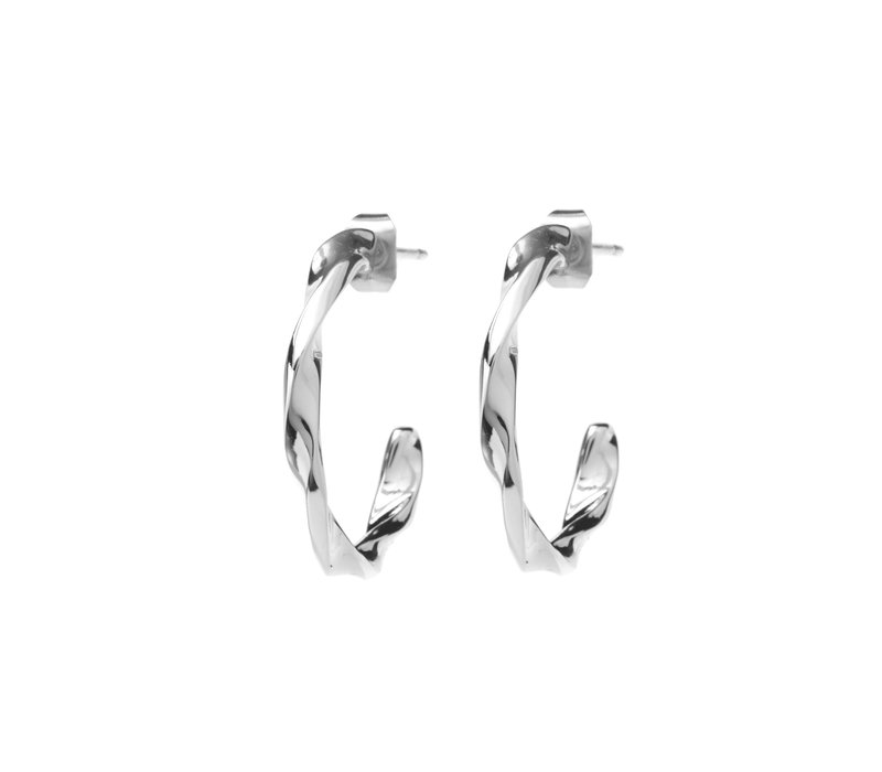 Helix Hoops Silverplated