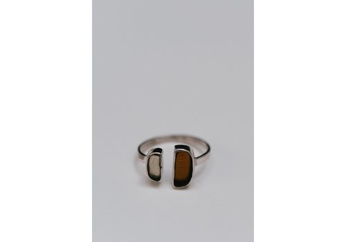 Amber Ring Silver