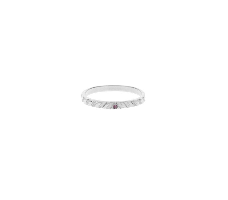 Peak Ring Zilver