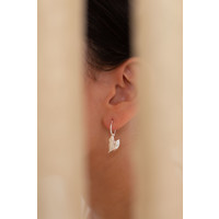 Reflect Hoops Silver Plated
