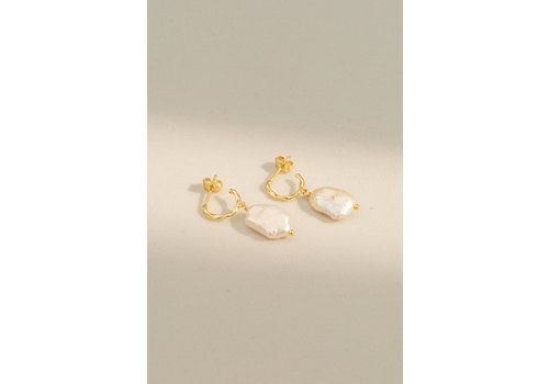 Perle Hoops Gold Plated