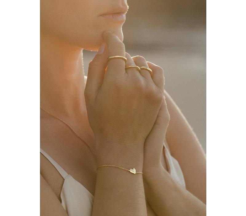 Heart Armband 14K Verantwoord Goud (Gepersonaliseerd)