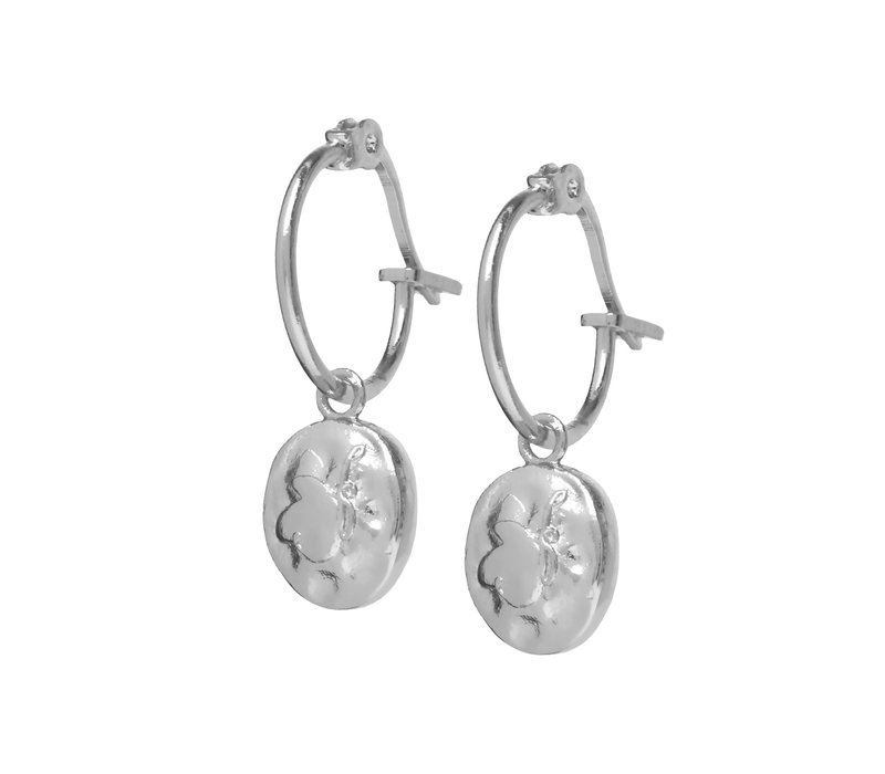 Charm Hoops Silver Plated