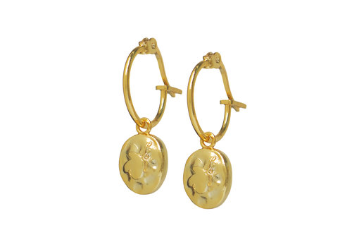 Charm Hoops Gold Plated