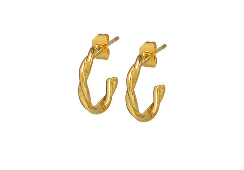 Allay Hoops Gold Plated