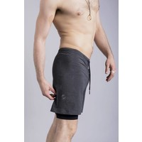 Ohmme 2 Dogs Yoga Shorts - Graphite