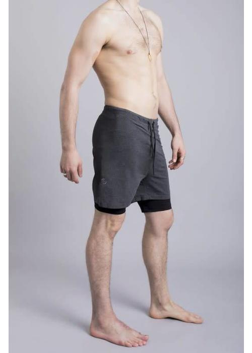 Ohmme Ohmme 2 Dogs Yoga Shorts - Graphite