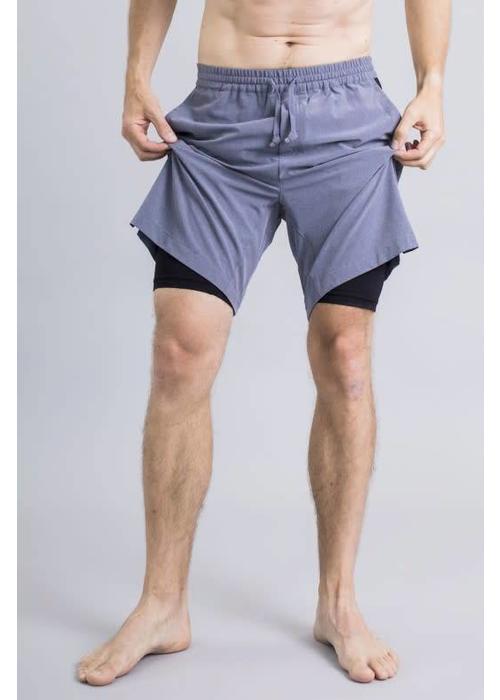 ec632c6769728 Ohmme Eco Warrior II Yoga Shorts - Slate