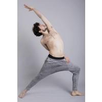 Ohmme Matsyendra Fisherman Yoga Pants - Grey