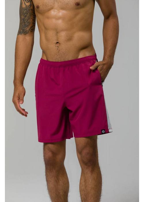 "Onzie Onzie 7"" Core Short - Crimson/Wolf Gray"