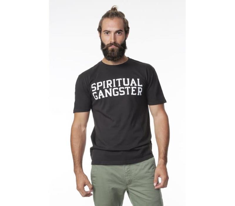 Spiritual Gangster Varsity Tee - Vintage Black