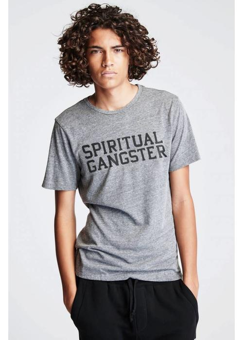 Spiritual Gangster Spiritual Gangster Men's Varsity Tee - Heather Grey