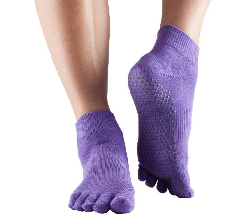 Toesox Yoga Sokken Enkelhoogte Dichte Tenen - Lila