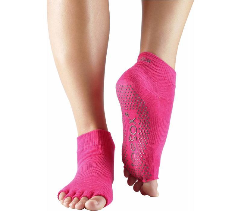 Toesox Yoga Sokken Enkelhoogte Open Tenen - Fuchsia