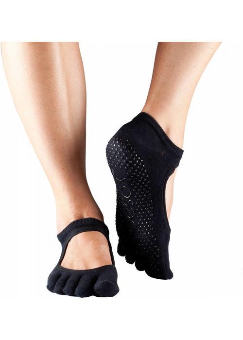 Toesox Toesox Yoga Sokken Bellarina Dichte Tenen - Zwart