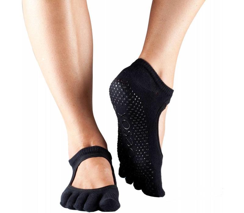 Toesox Yoga Sokken Bellarina Dichte Tenen - Zwart