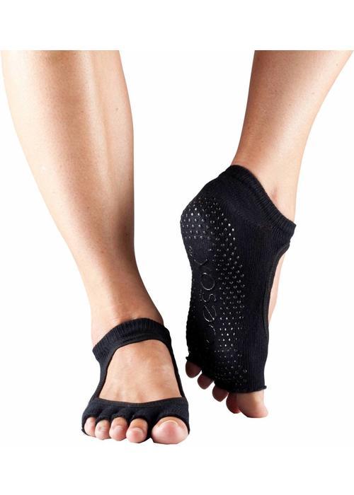 Toesox Toesox Yoga Sokken Bellarina Open Tenen - Zwart