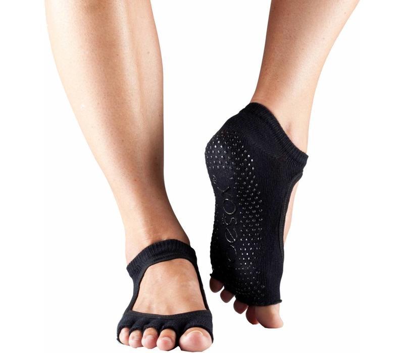 Toesox Yoga Sokken Bellarina Open Tenen - Zwart