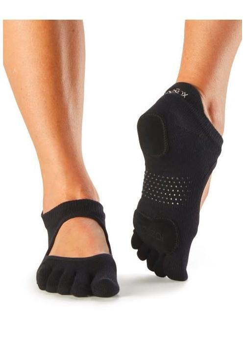 Toesox Toesox Yoga Sokken Prima Bellarina Dichte Tenen - Zwart