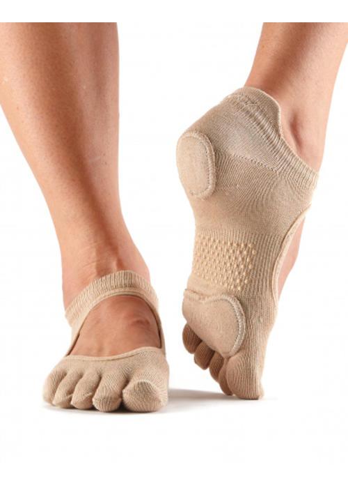 Toesox Toesox Yoga Sokken Prima Bellarina Dichte Tenen - Nude