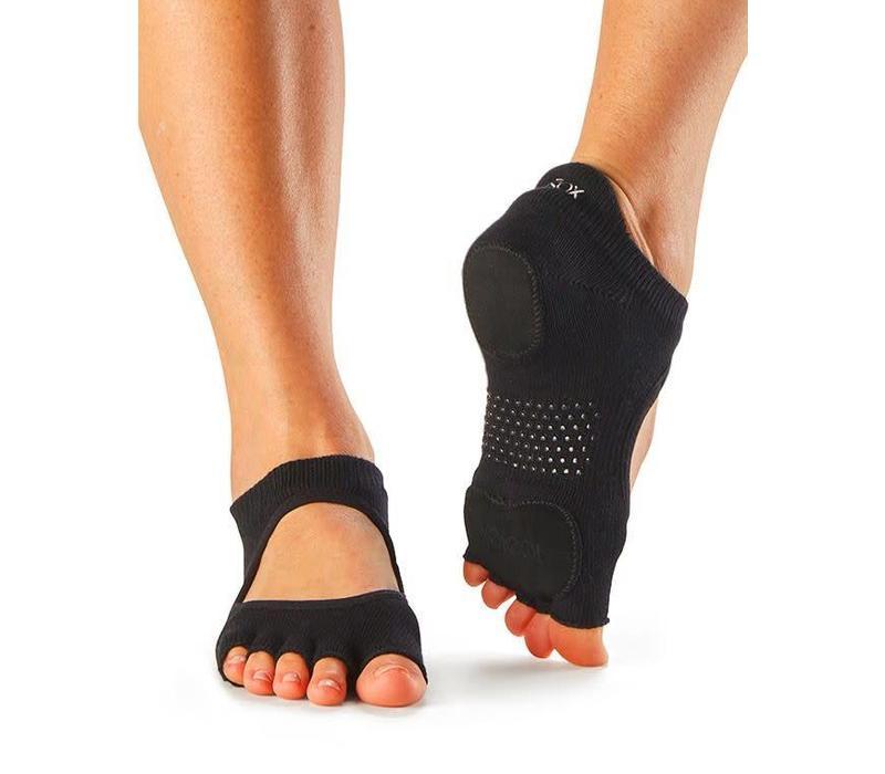 Toesox Yoga Sokken Prima Bellarina Open Tenen - Zwart