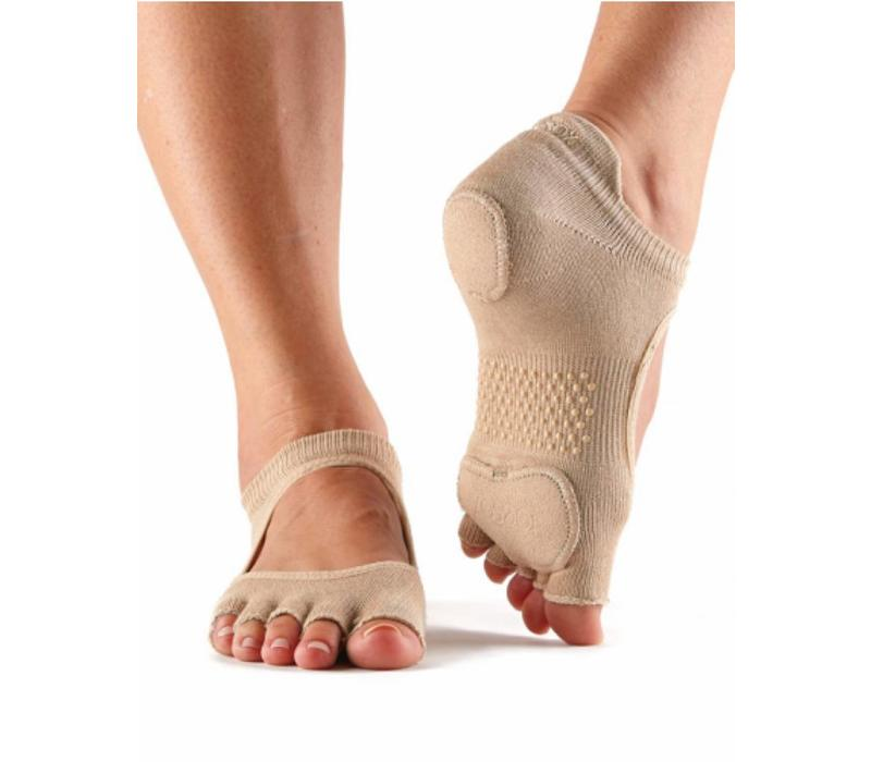 Toesox Yoga Sokken Prima Bellarina Open Tenen - Nude