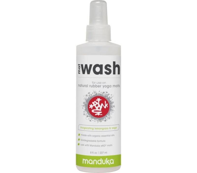 Manduka Natural Rubber Mat Wash 237ml - Invigorating Lemongrass & Sage
