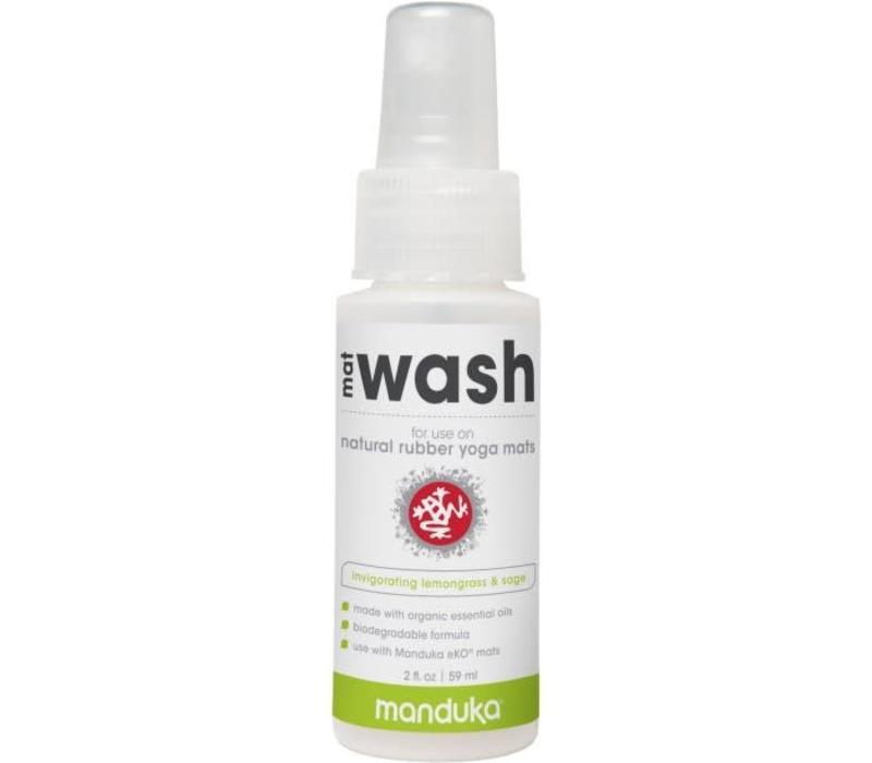 Manduka Natural Rubber Mat Wash 59ml - Invigorating Lemongrass & Sage
