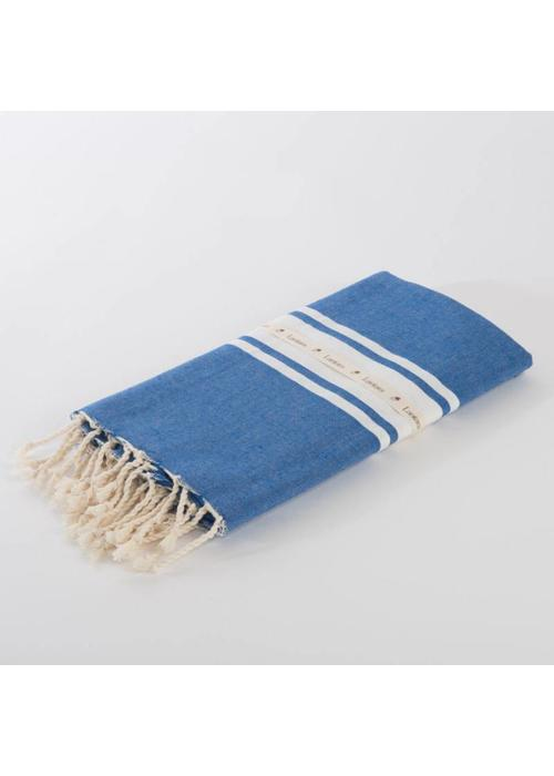Lantara Fouta Shawl - Berbère Cornflower Blue