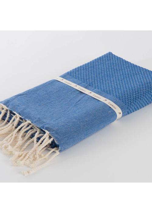 Lantara Fouta Shawl - Nid d'Abeille Cornflower Blue