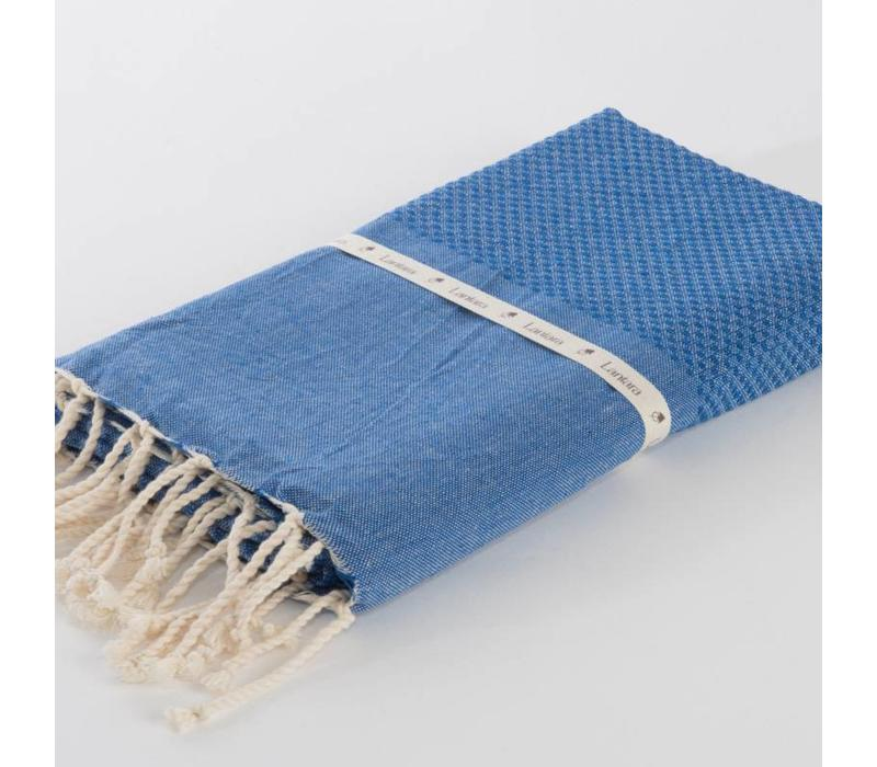 Fouta Shawl - Nid d'Abeille Cornflower Blue