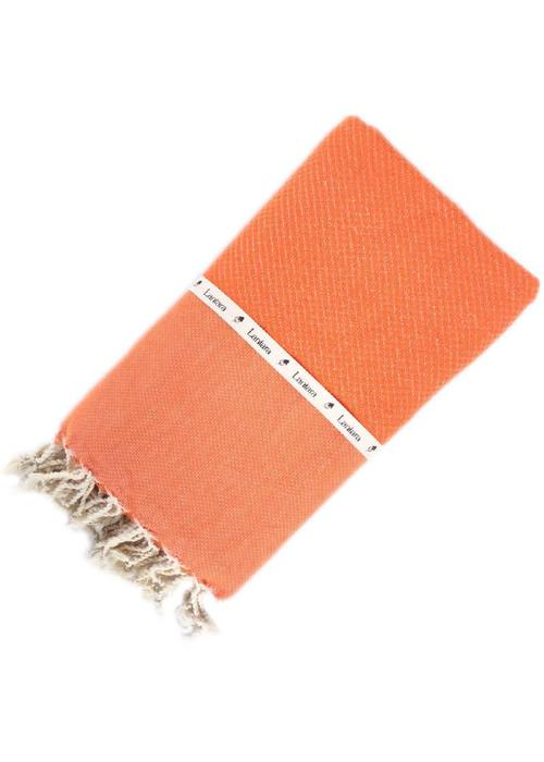 Lantara Fouta Shawl - Nid d'Abeille Orange