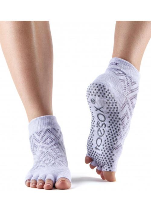 Toesox Toesox Yoga Sokken Enkelhoogte Open Tenen - Diamond Lotus