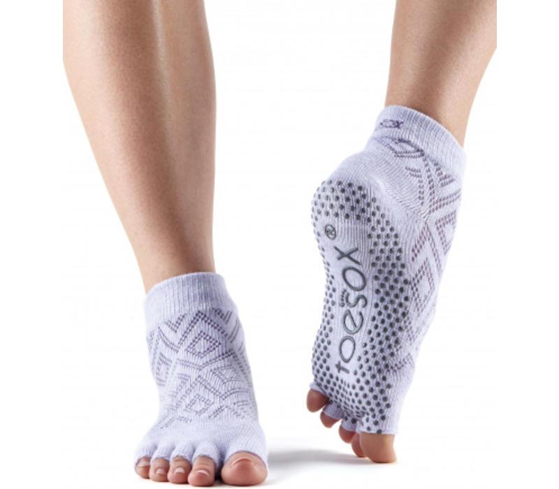 Toesox Ankle Half Toe - Diamond Lotus