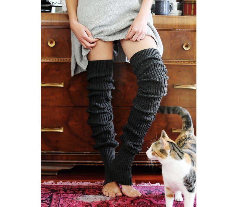 Toesox Beenwarmer Thigh High - Charcoal