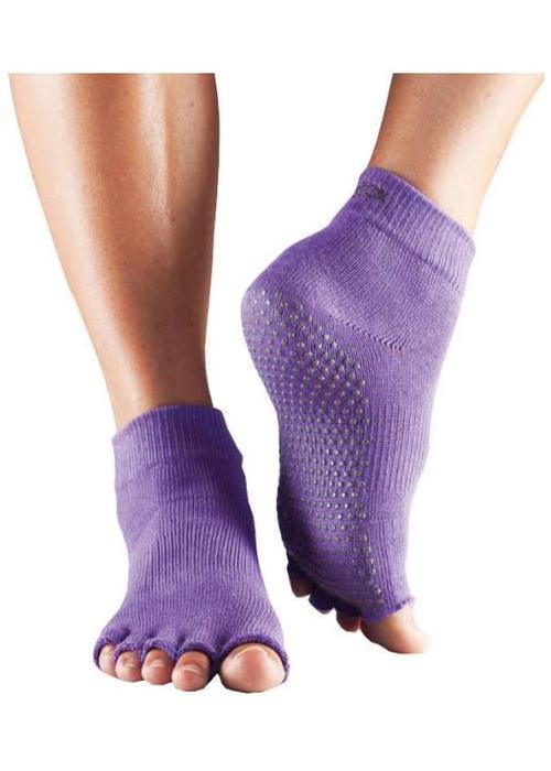 Toesox Toesox Yoga Sokken Enkelhoogte Open Tenen - Lila
