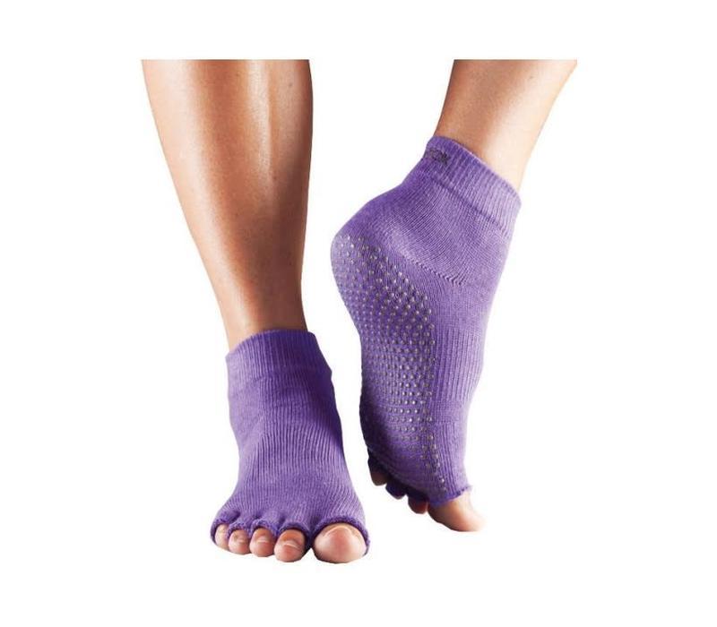Toesox Ankle Half Toe - Light Purple