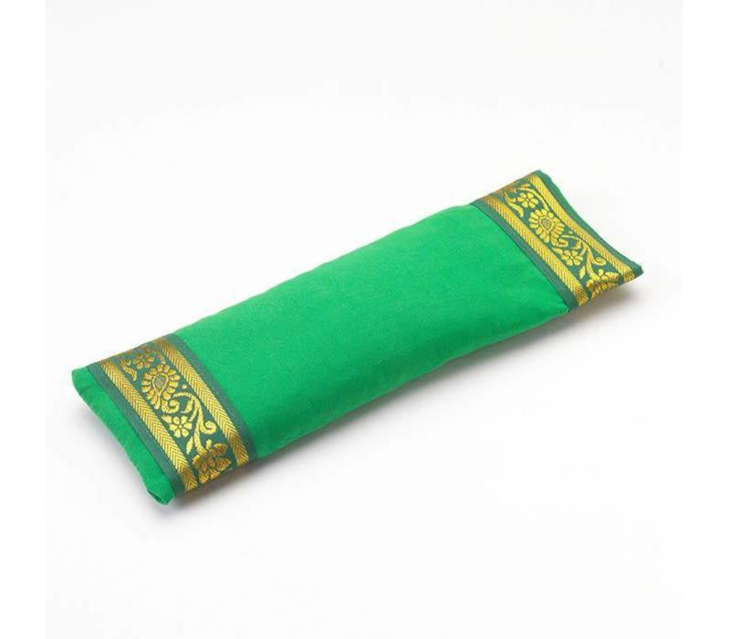 Augenkissen Goldener Rand - Grün