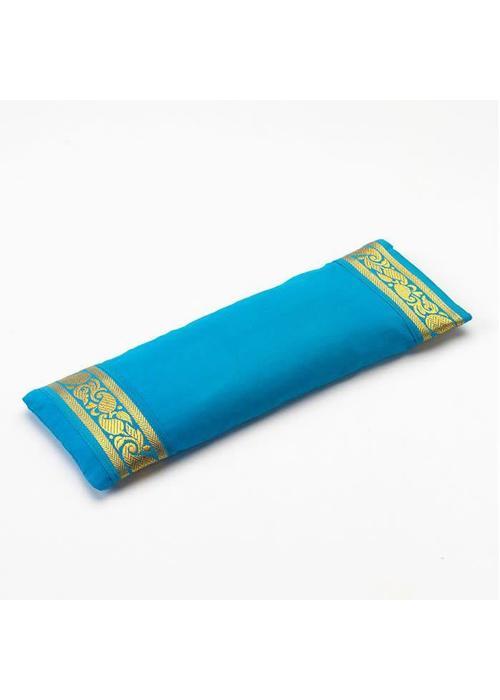 Yogamatters Augenkissen Goldener Rand - Hellblau