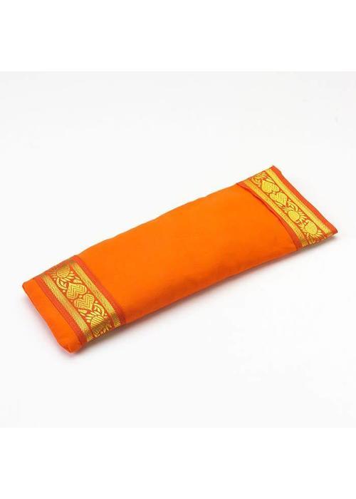 Yogamatters Augenkissen Goldener Rand - Orange
