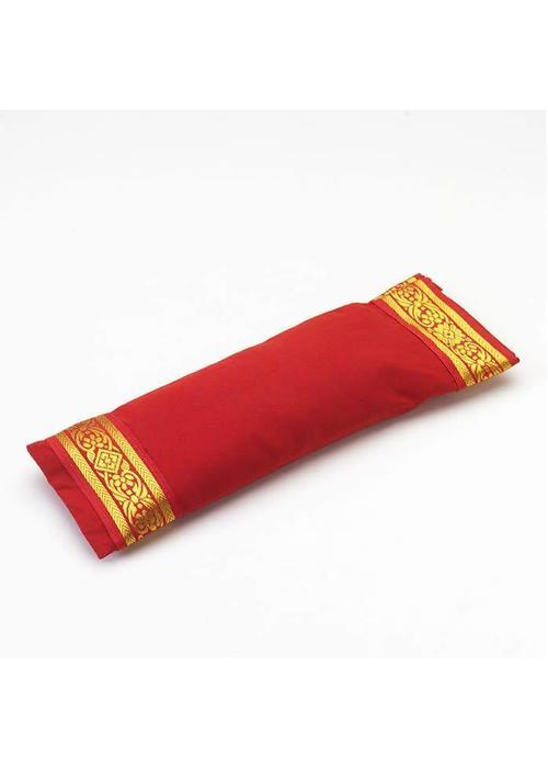 Yogamatters Augenkissen Goldener Rand - Rot