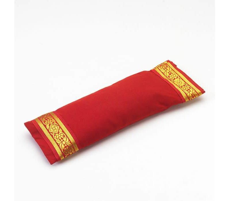 Augenkissen Goldener Rand - Rot