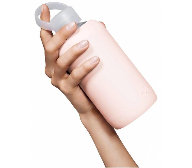 BKR Glass Water Bottle 500ml - Naked Dusty Pink Star