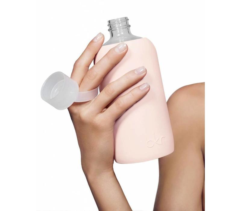 BKR Glass Water Bottle 500ml - Jet Silver Star
