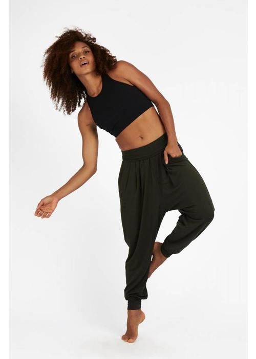 Dharma Bums Dharma Bums Relax Pants - Deep Olive
