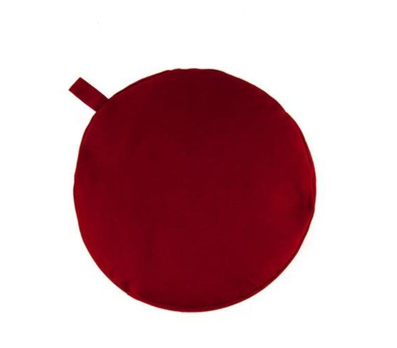 Meditation Cushion 13cm High - Burgundy