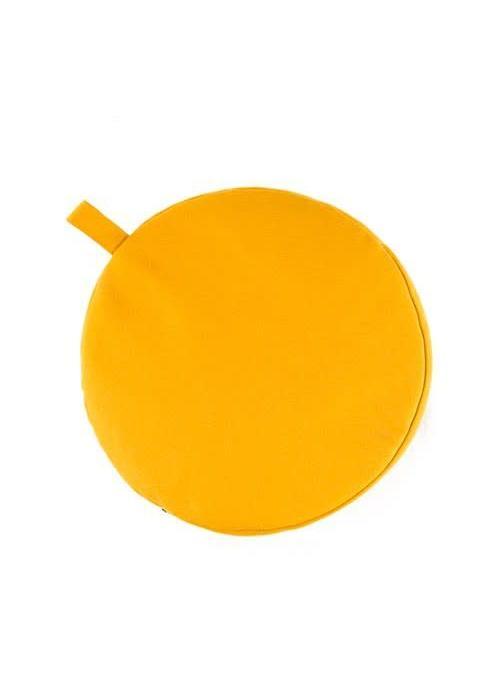 Yogisha Meditation Cushion 13cm High - Yellow