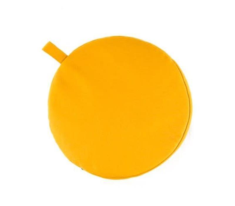 Meditatiekussen 5cm hoog - Geel