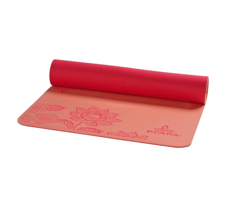 PrAna E.C.O. Henna Yoga Mat - Summer Peach