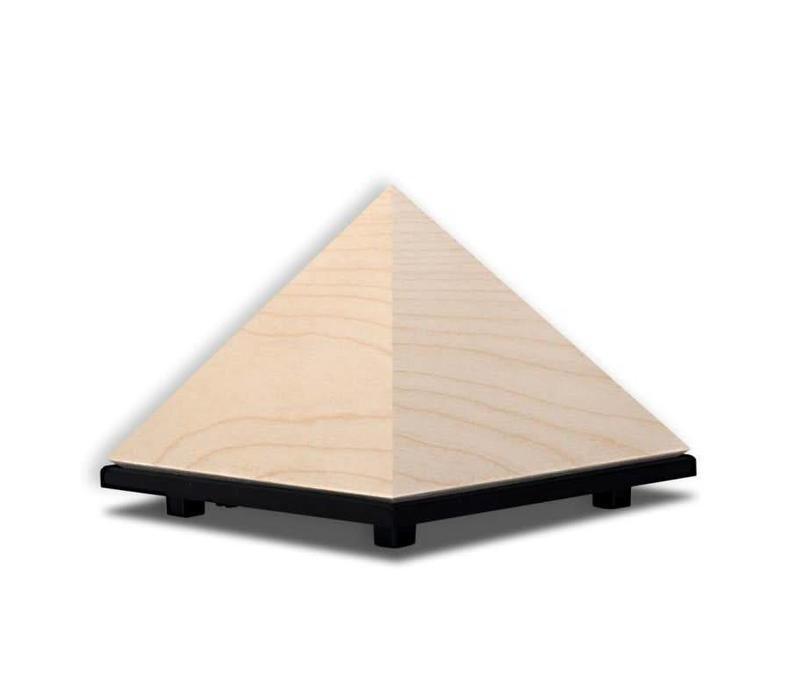 Pyramid Meditation Timer - Sycamore Wood